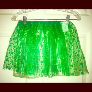 🆕 Claire's Girl's Adorable Green tutu Skirt M/L